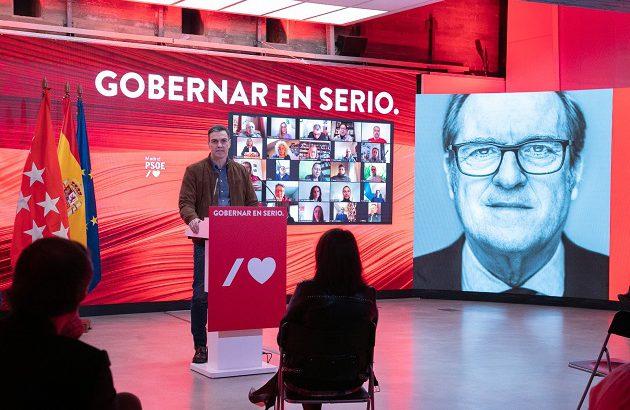 Pedro Sánchez: Gabilondo y el PSOE son la única apuesta para gobernar Madrid en serio